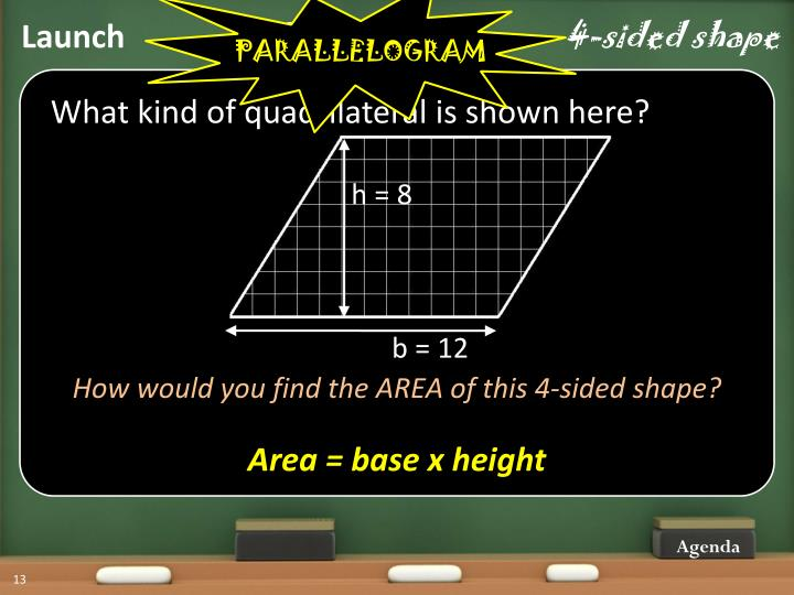 Quadrilateral …     4-sided shape