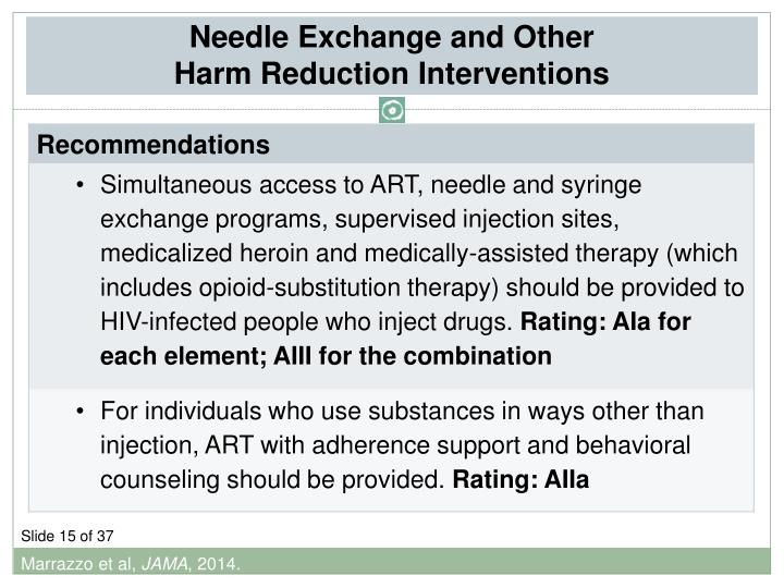 Needle Exchange and Other