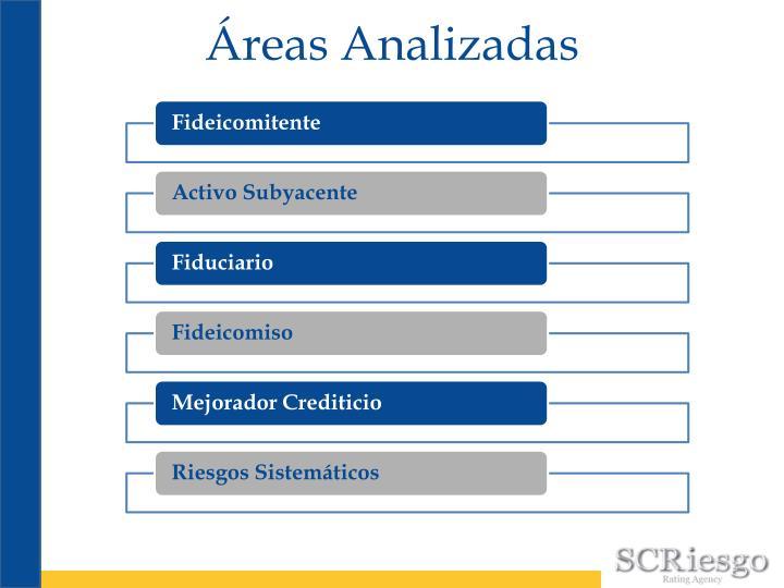 Áreas Analizadas