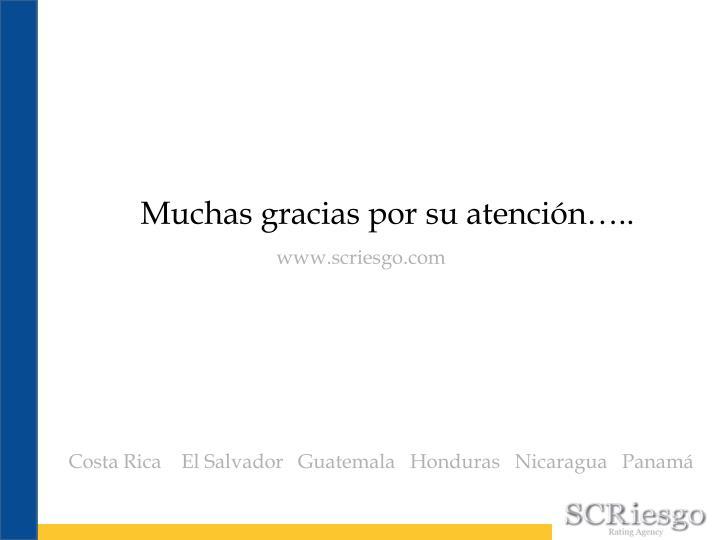 Muchas gracias por su atención…..