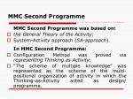 mmc second programme