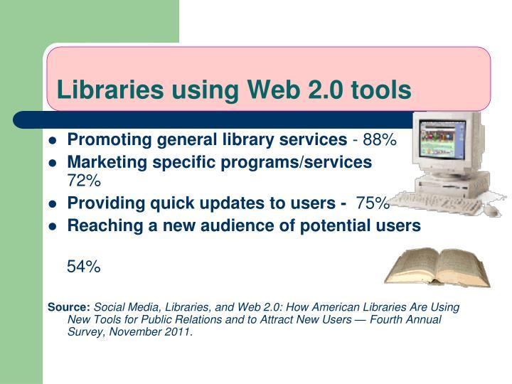 Libraries using Web 2.0 tools