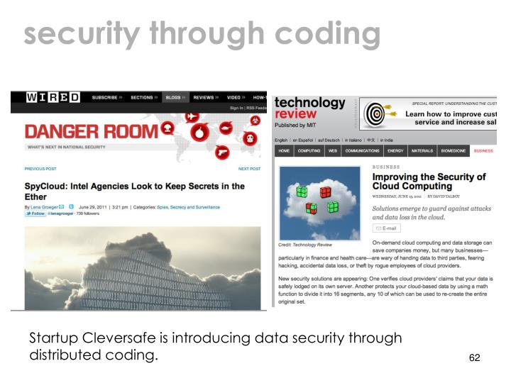 security through coding