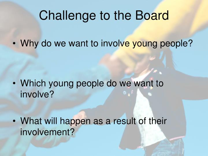 Why do we want to involve young people?
