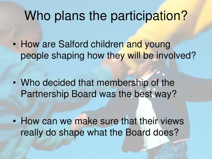 How are Salford children and young people shaping how they will be involved?