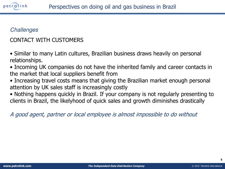 Perspectives on doing oil and gas business in Brazil
