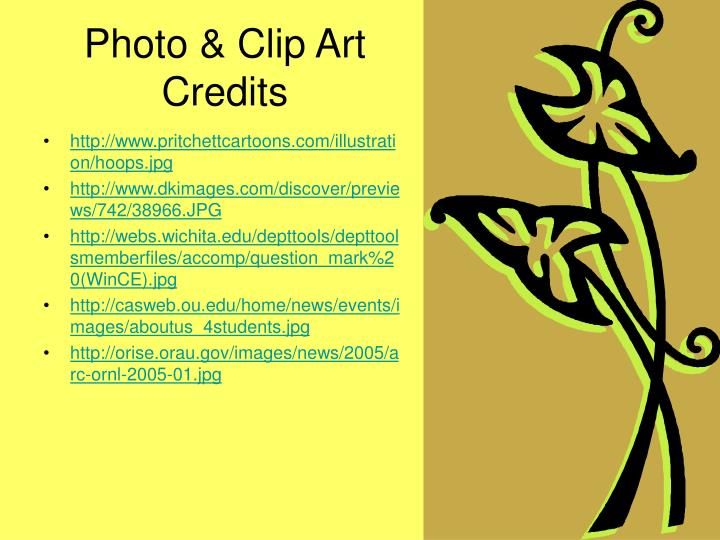 Photo & Clip Art Credits