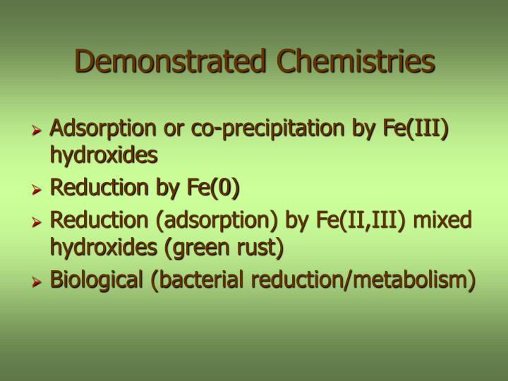 Demonstrated Chemistries