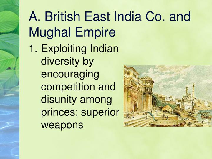 A british east india co and mughal empire