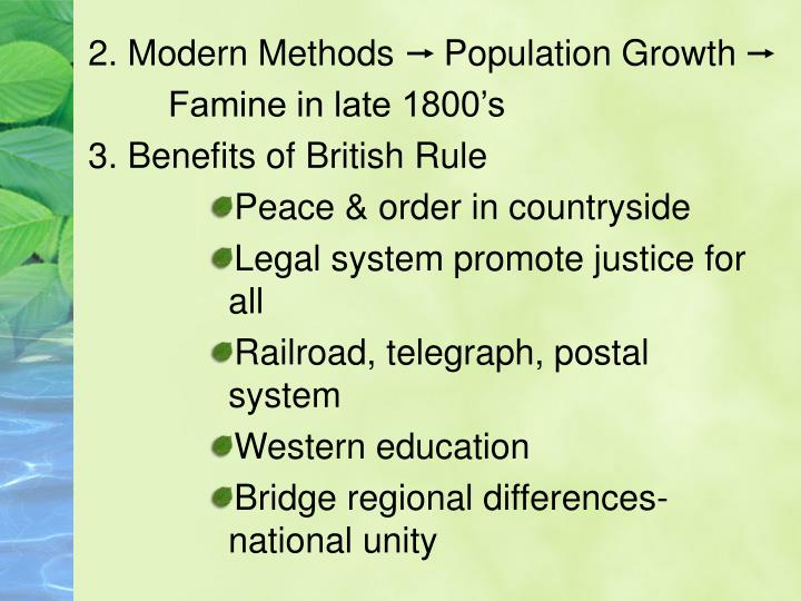 2. Modern Methods     Population Growth