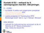 kontakt til eu nettverk for 6 rammeprogram med ba tilknytninger