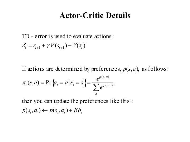 Actor-Critic Details