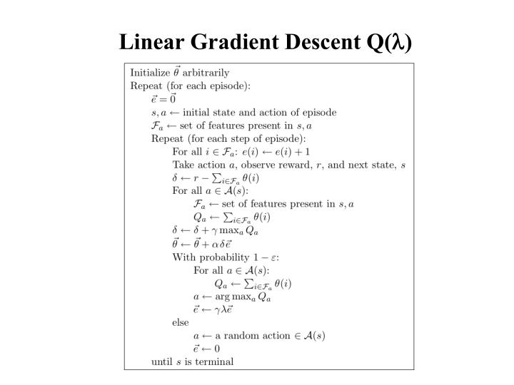 Linear Gradient Descent Q(