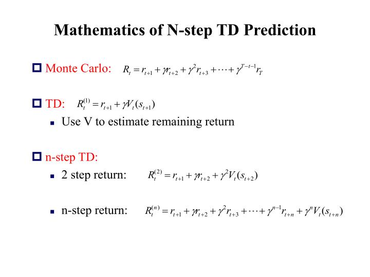 Mathematics of N-step TD Prediction