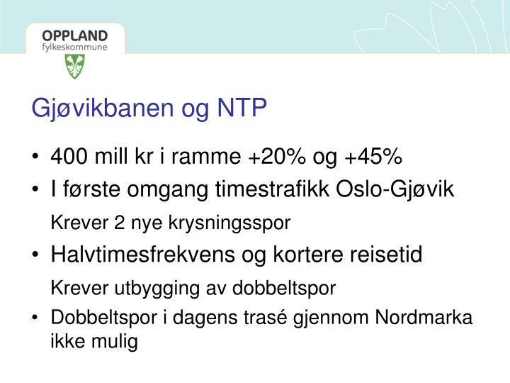 Gjøvikbanen og NTP