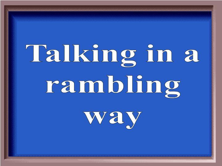 Talking in a