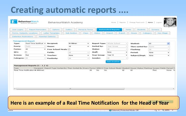 Creating automatic reports ....