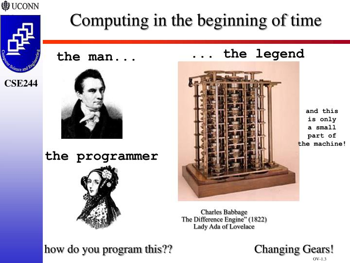 Computing in the beginning of time