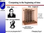 computing in the beginning of time1