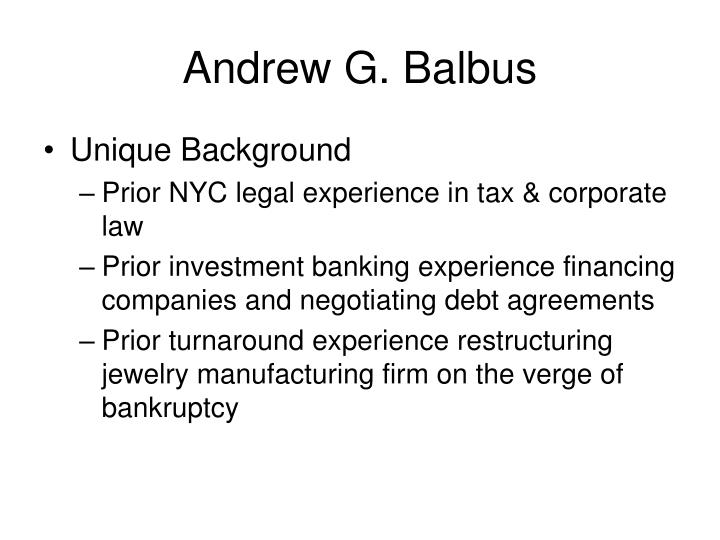 Andrew G. Balbus
