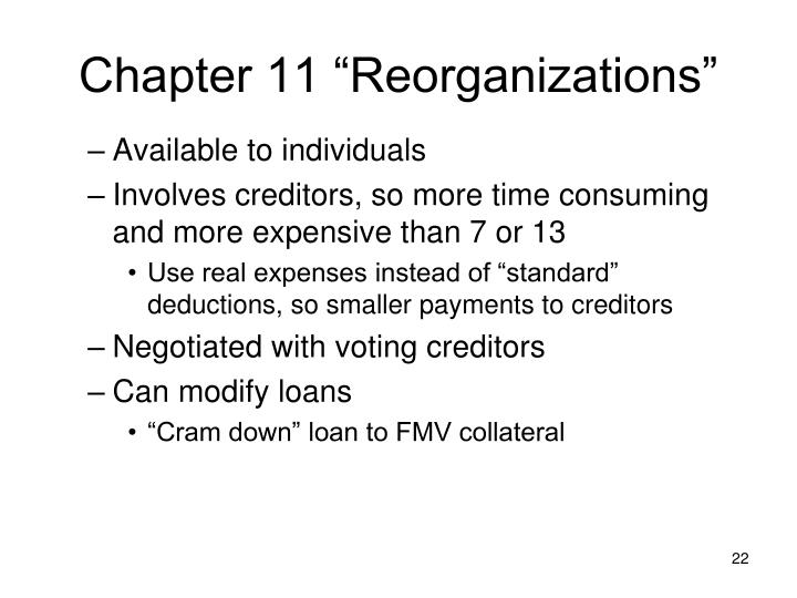 "Chapter 11 ""Reorganizations"""