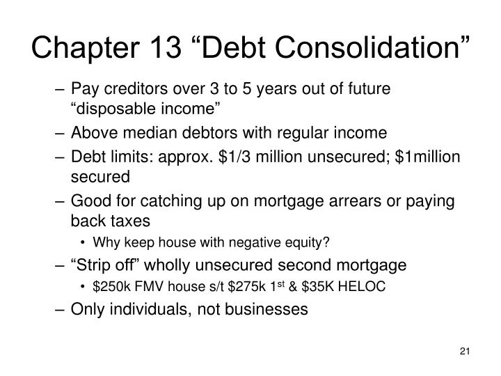 "Chapter 13 ""Debt Consolidation"""