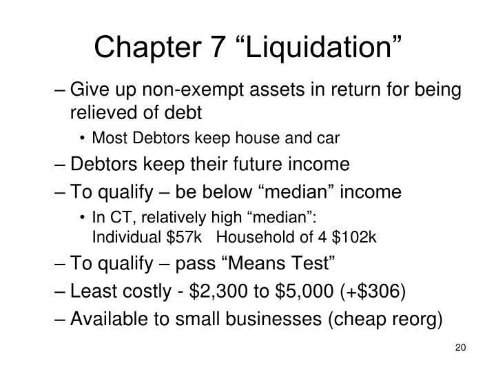 "Chapter 7 ""Liquidation"""