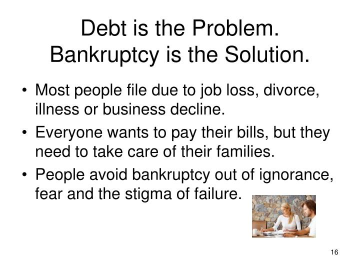 Debt is the Problem.