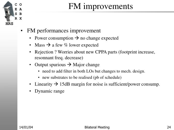 FM improvements