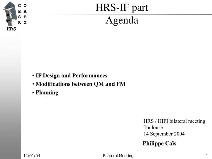 Hrs if part agenda