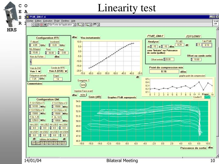 Linearity test