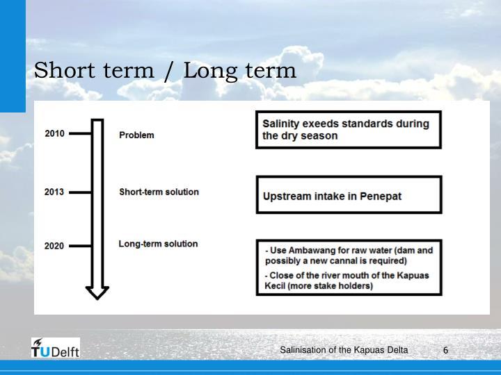 Short term / Long term