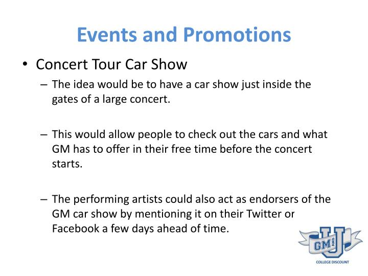 Events and Promotions