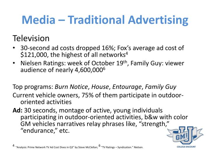 Media – Traditional Advertising