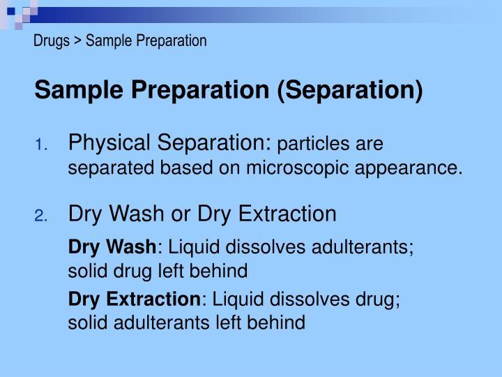 Drugs > Sample Preparation