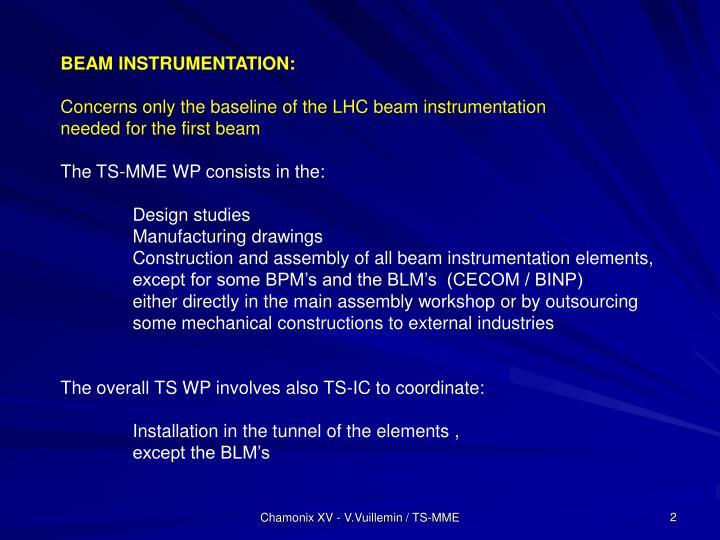 BEAM INSTRUMENTATION: