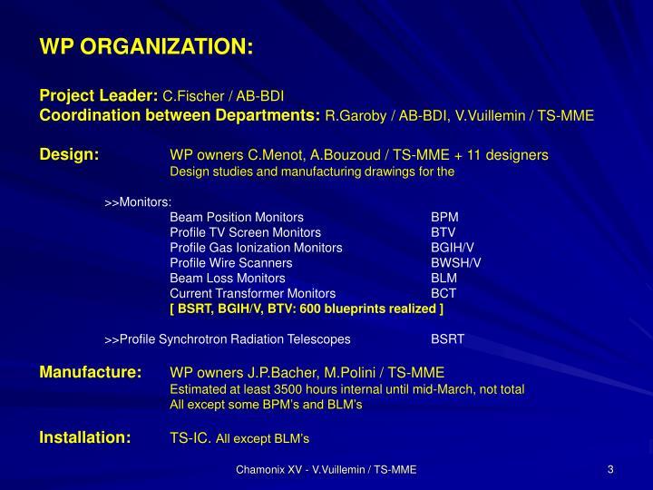 WP ORGANIZATION: