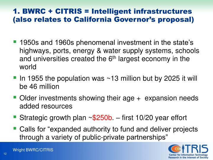 1950s and 1960s phenomenal investment in the state's highways, ports, energy & water supply systems, schools and universities created the 6