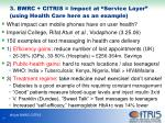3 bwrc citris impact at service layer using health care here as an example