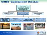 citris organizational structure