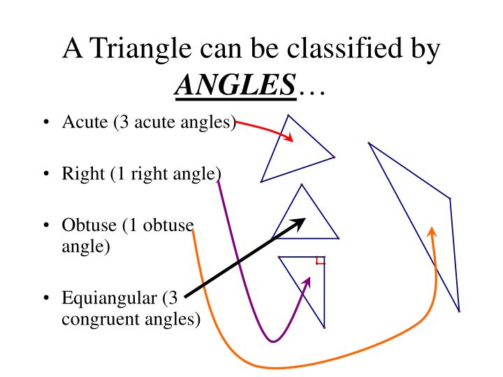 A Triangle can be classified by