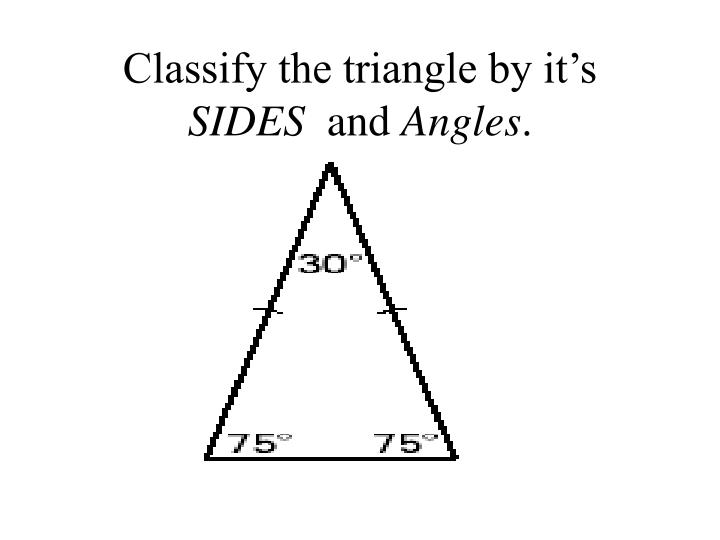 Classify the triangle by it's