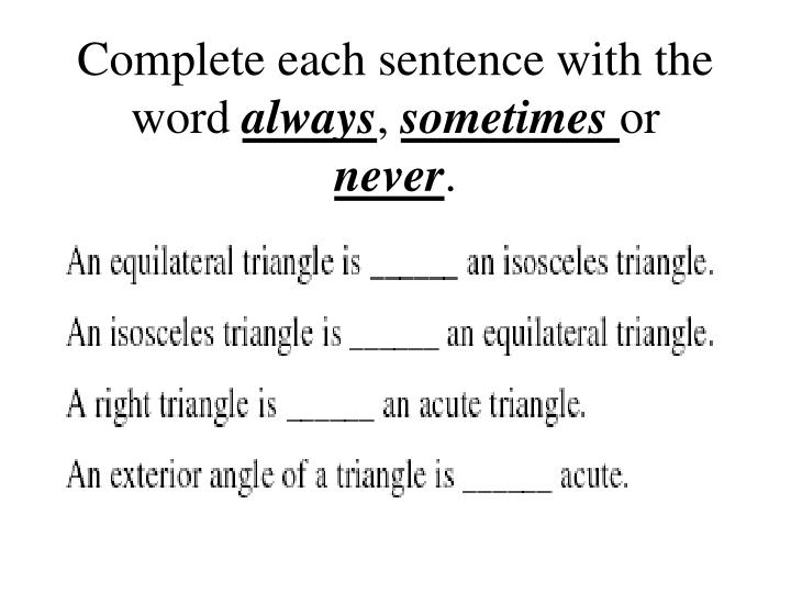 Complete each sentence with the word