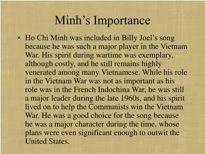 Minh's Importance