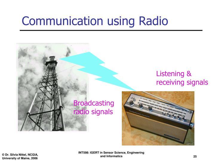 Communication using Radio