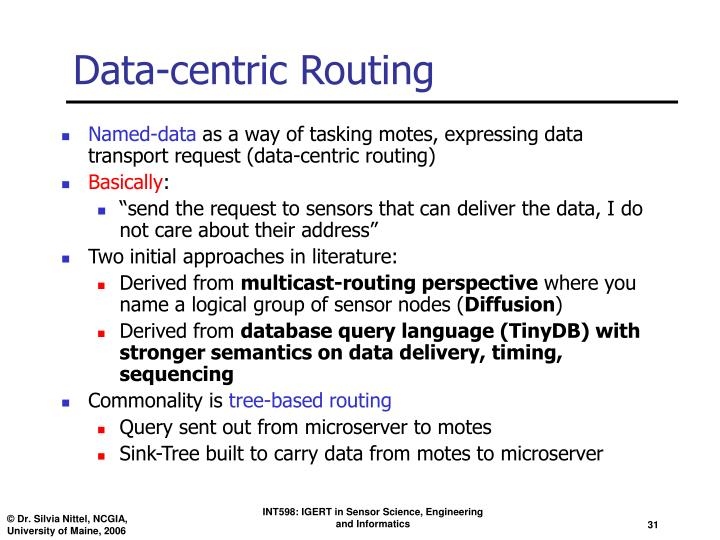Data-centric Routing
