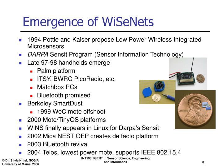 Emergence of WiSeNets