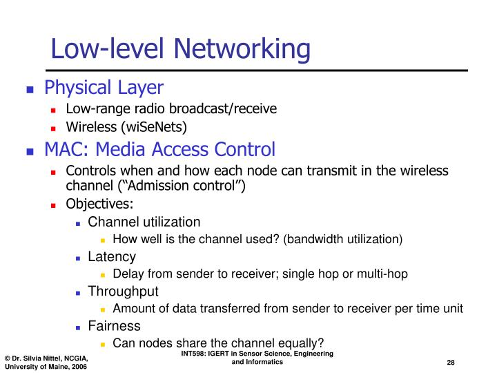 Low-level Networking