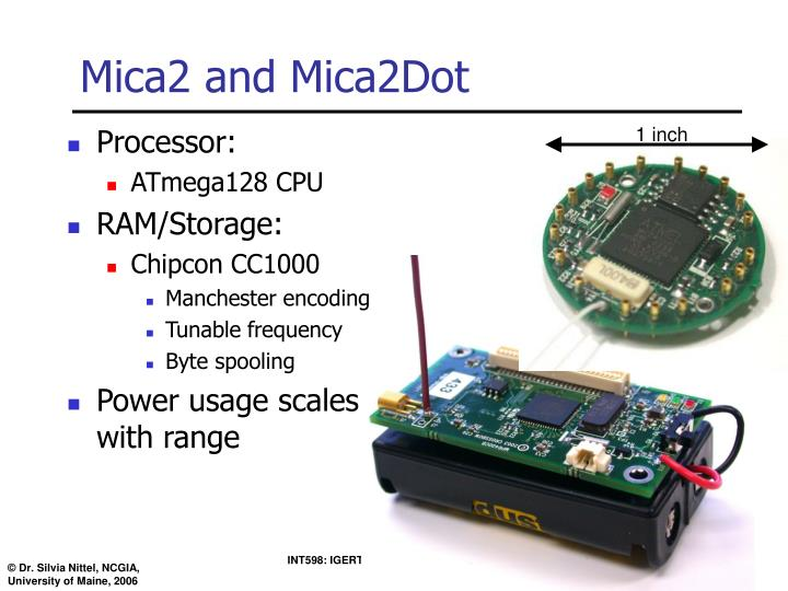 Mica2 and Mica2Dot