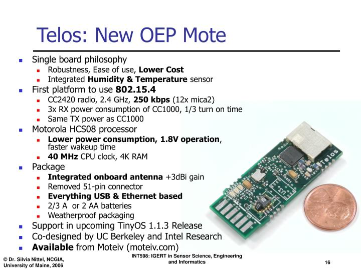 Telos: New OEP Mote